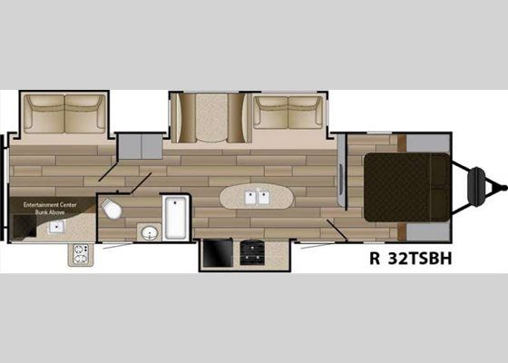 Floorplan 2017 Radiance Touring R 32tsbh Travel Trailer Travel