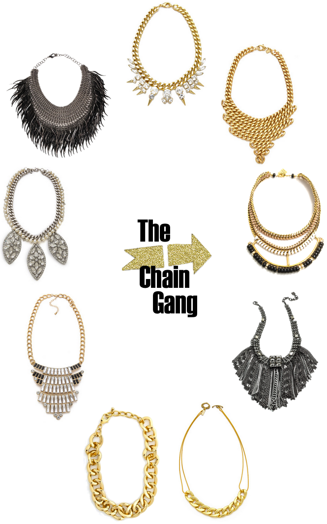 Chain Gang Jewelry Pictures : chain, jewelry, pictures, Chain, Statement, Necklaces, Glitter,, Necklace,, Jewelry