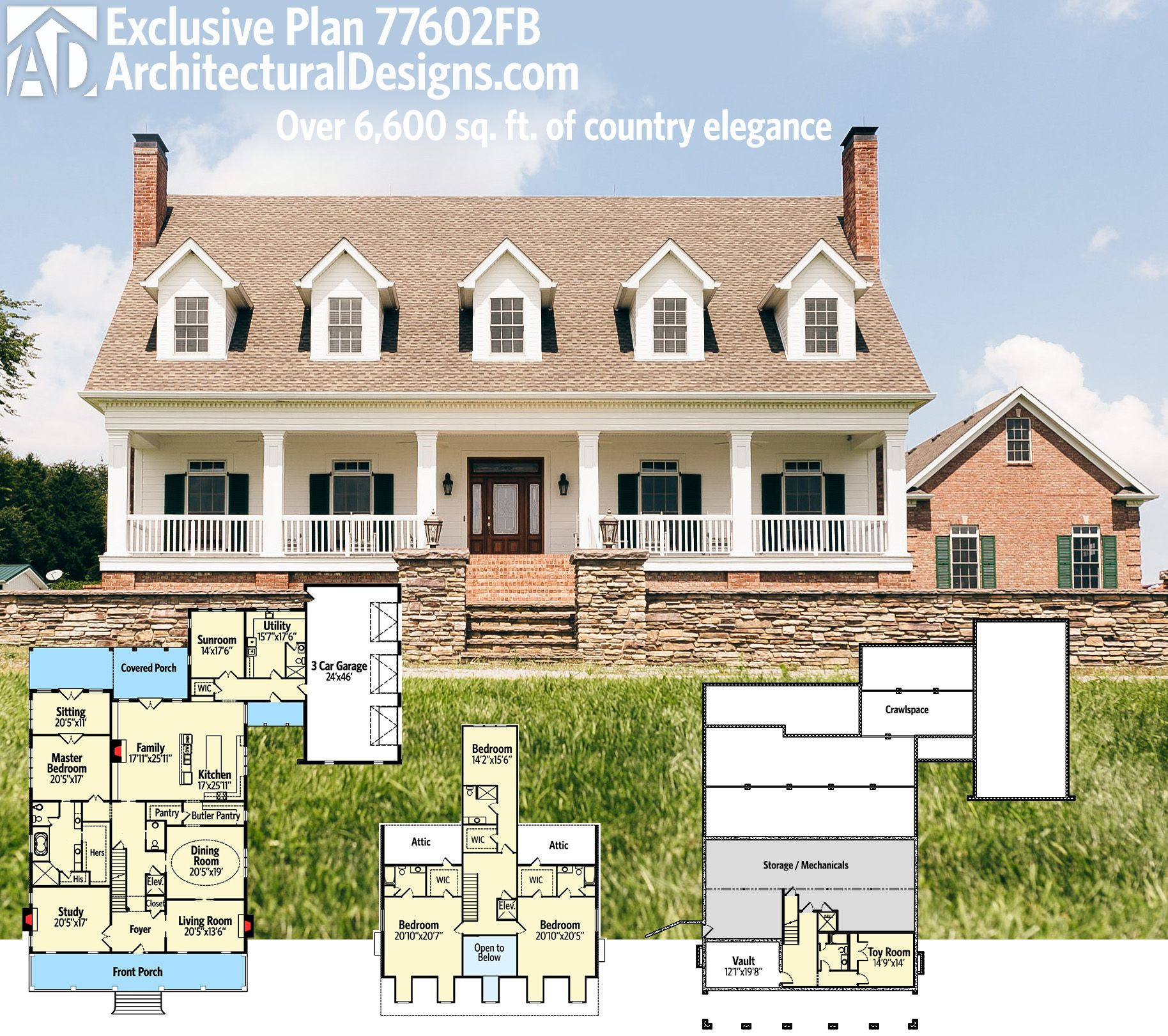 Dream Home Designs: Plan 77602FB: Exclusive 4 Bed Country Dream Home Plan