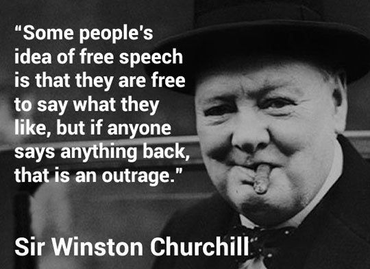FUNNY QUOTES ABOUT FREEDOM OF SPEECH image quotes at relatably - freedom of speech example template