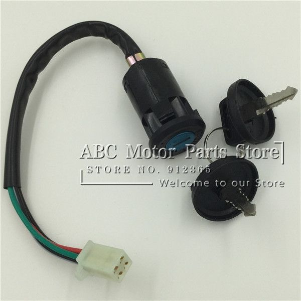 ATV Ignition Switch dust-proof cover ATV spare parts 4 wire Switch ...