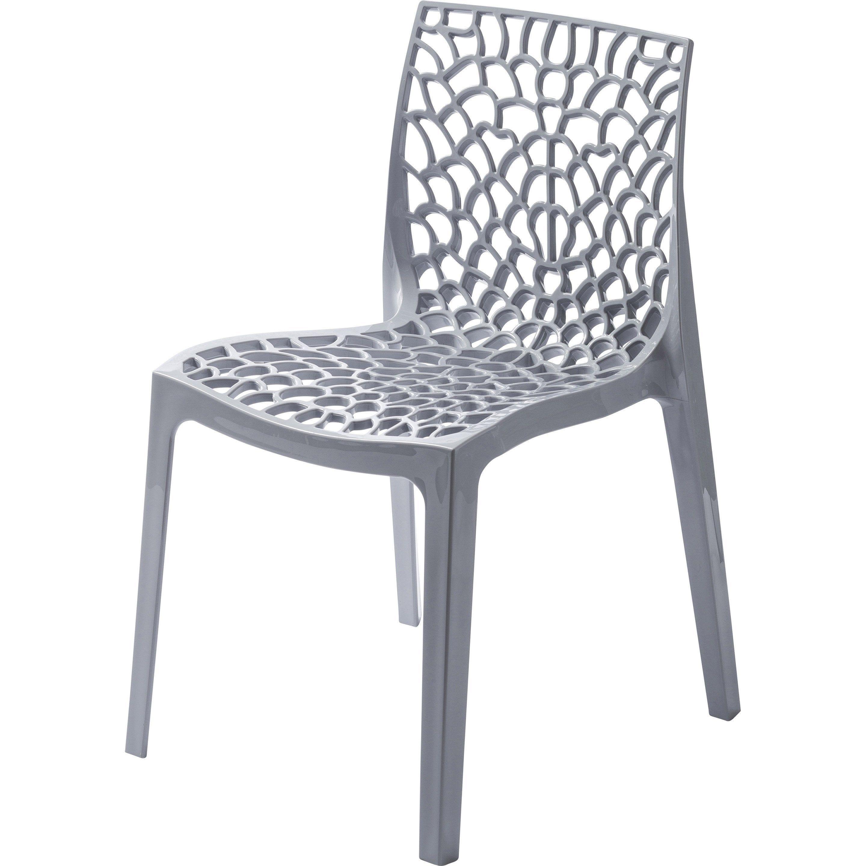 Chaise De Jardin En Resine Grafik Gris Perle Chaise De Jardin Chaise De Salon Table Et Chaises De Jardin