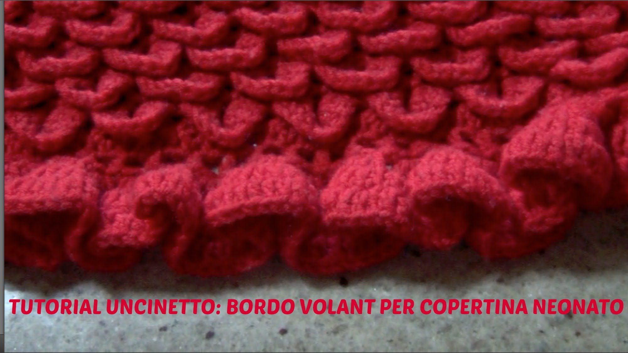 Tutorial Uncinettobordo Volant Per Copertina Neonato Crochet
