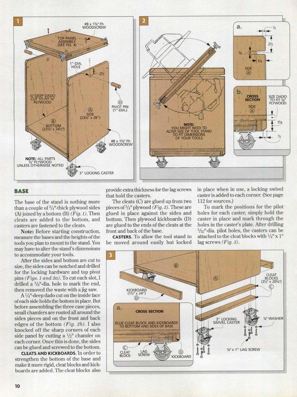 Flip Top Tool Cart Plans