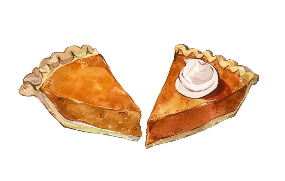 Pumpkin Pie By Laura Manfre Pie Drawing Food Illustrations Food Drawing