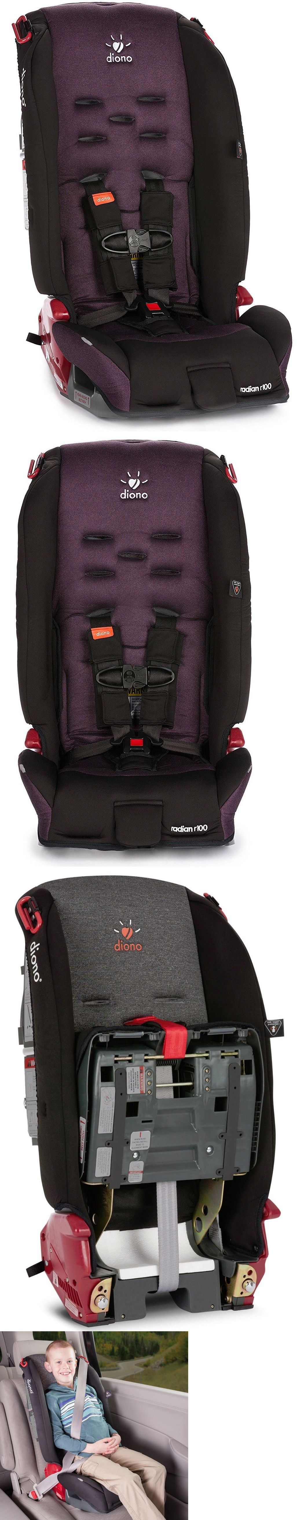 Diono Radian R100 Convertible Booster Folding Child Safety Car Seat Black Plum