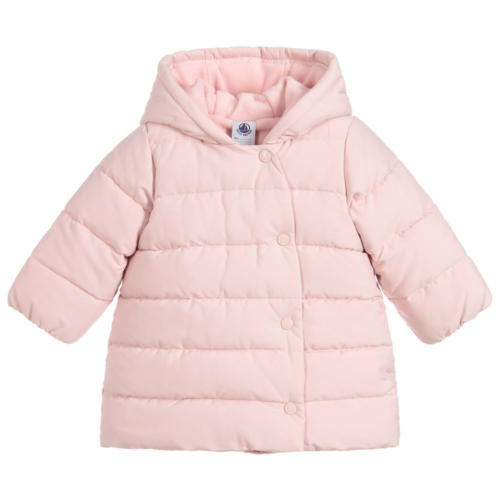9b2d3deb2304f Girls Pink Padded Coat for Girl by Petit Bateau. Discover more beautiful  designer Coats   Jackets for kids online