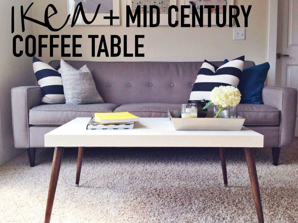 Genial DIY IKEA Hack Mid Century Modern Coffee Table On This Blonde Bee