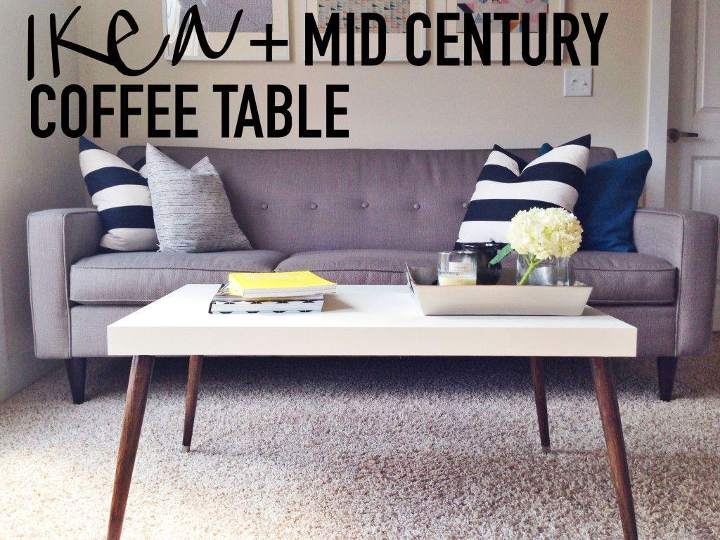 Diy Ikea Hack Mid Century Modern Coffee Table On This Blonde Bee