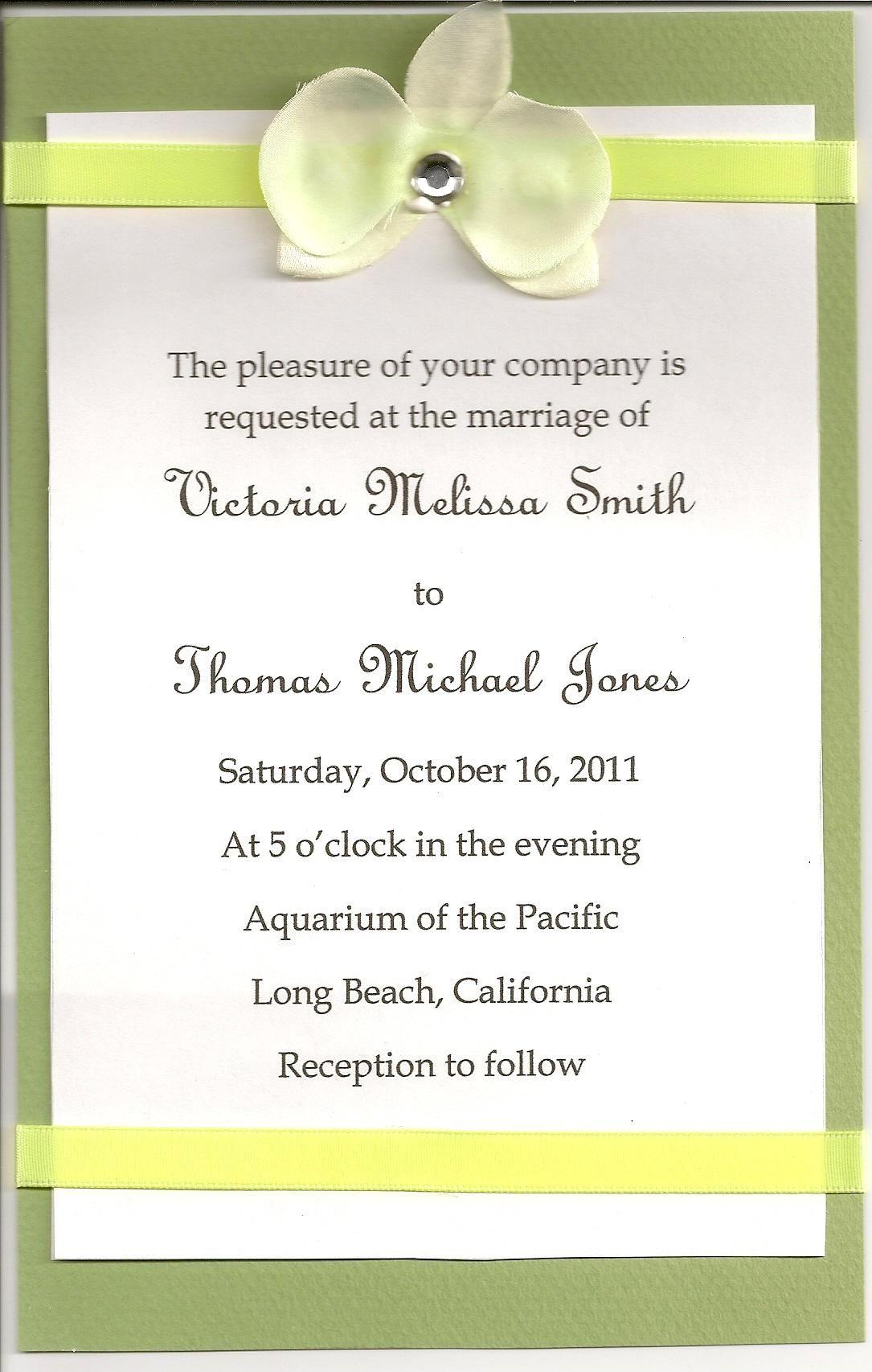 Wedding Invitation Language Simple