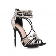e4061309611 Native, black and white snake print sandals by KG Kurt Geiger ...