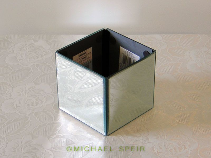 Diy mirror box planter centerpiece wedding bouquet