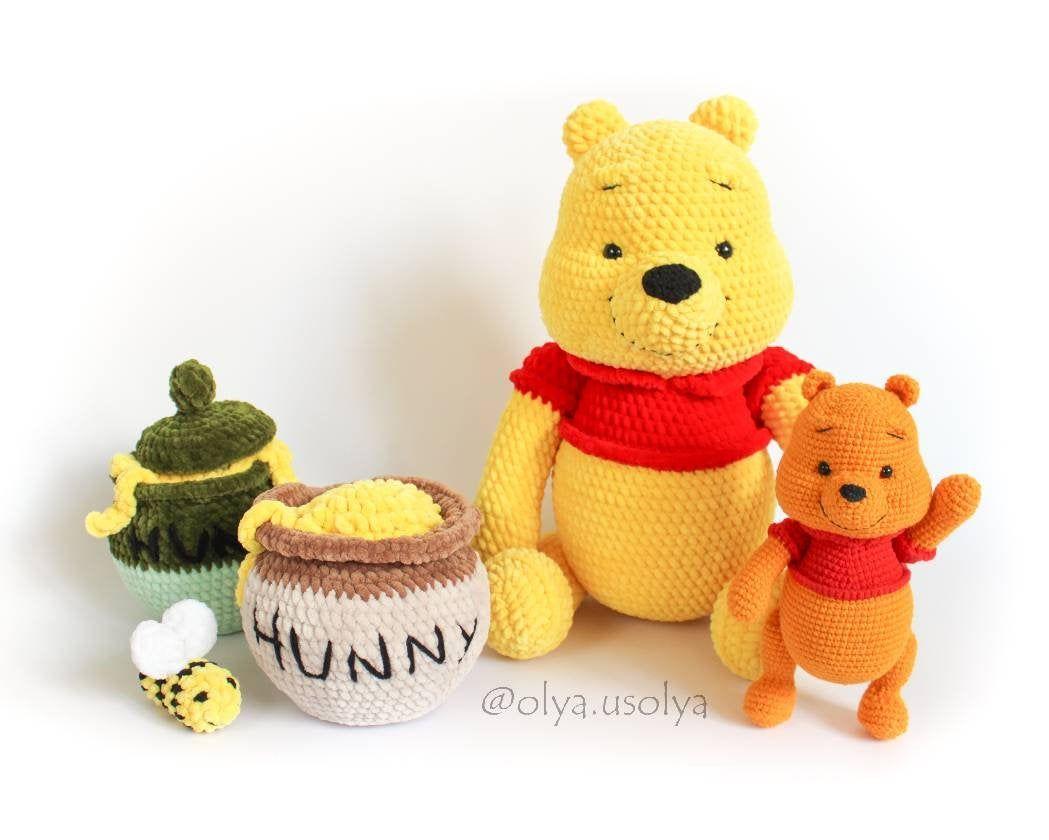 Amigurumi Winnie The Pooh Free Crochet Pattern - Amigurumi ... | 840x1049