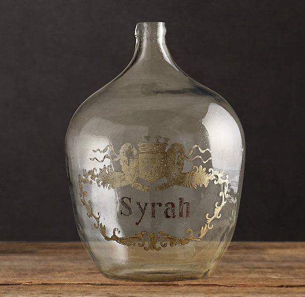 1920s Hand Blown Wine Bottle Syrah Libations Pinterest Wine