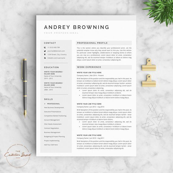 modern resume template clean professional resume template 4