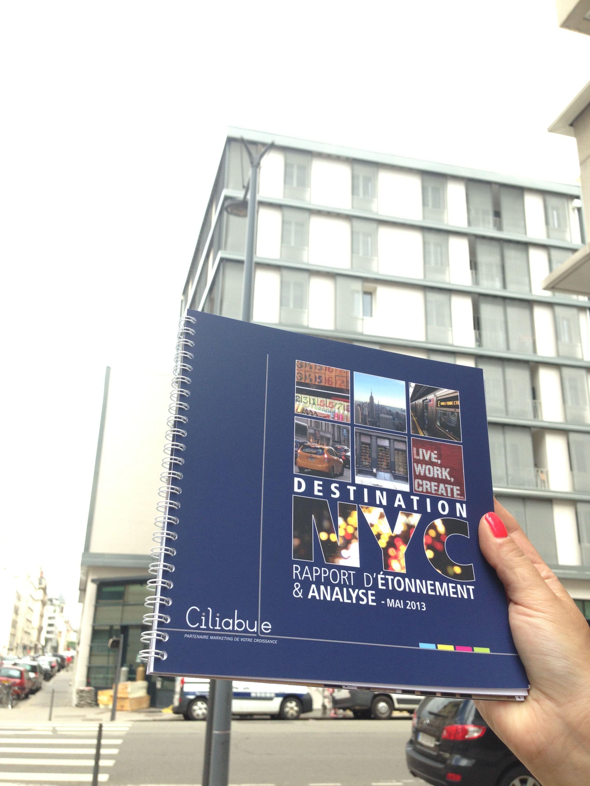 Ciliabule publie un rapport d'étonnement sur la ville fétiche de New York