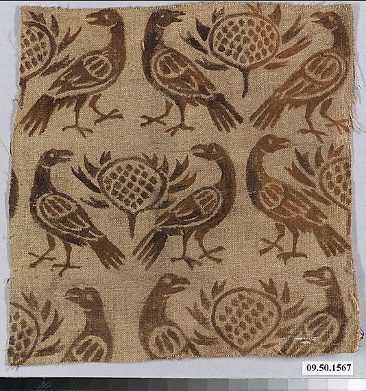 Painted Linen!  Date:      12th century  Culture:      German (Rhine)  Medium:      Linen