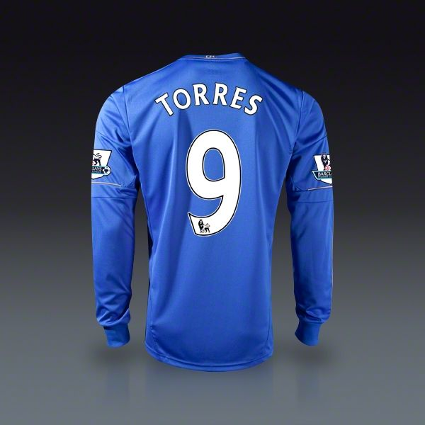 ebd0c91dc adidas Fernando Torres Chelsea Long Sleeve Home Jersey 12 13 ...
