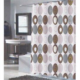 Modern Grey Shower Curtain