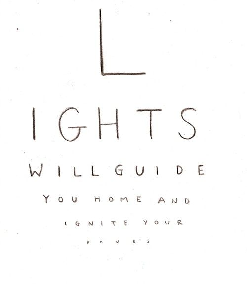 Coldplay Lights Will Guide You Home And Ignite Your Bones I Will