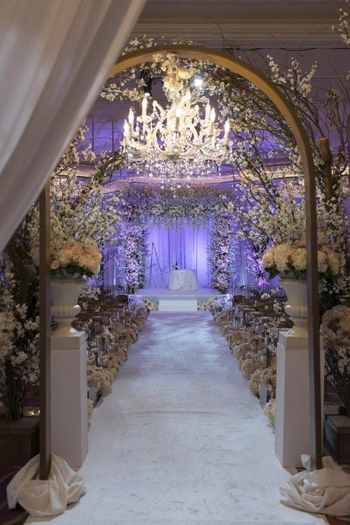 Cherry Blossom And Chandelier Wedding Ceremony Las Vegas Planner Andrea Eppolito O Photo By