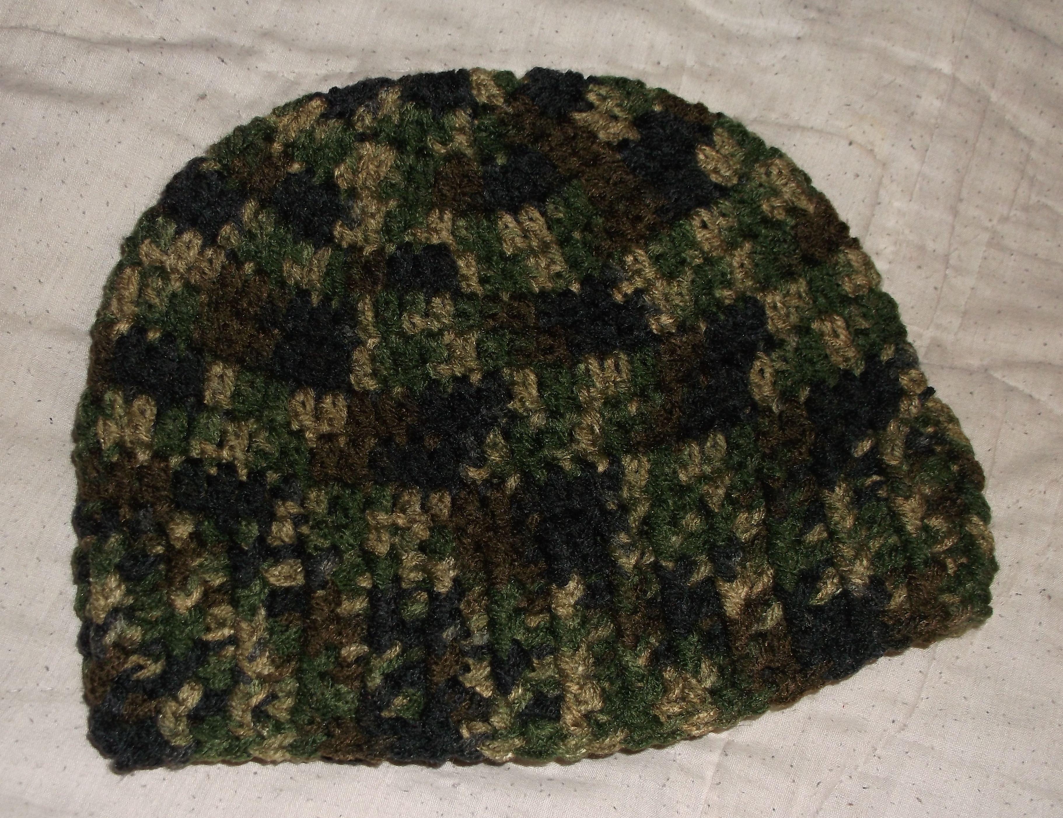 Crochet camo hat no pattern crochet hats headbands crochet camo hat no pattern bankloansurffo Images