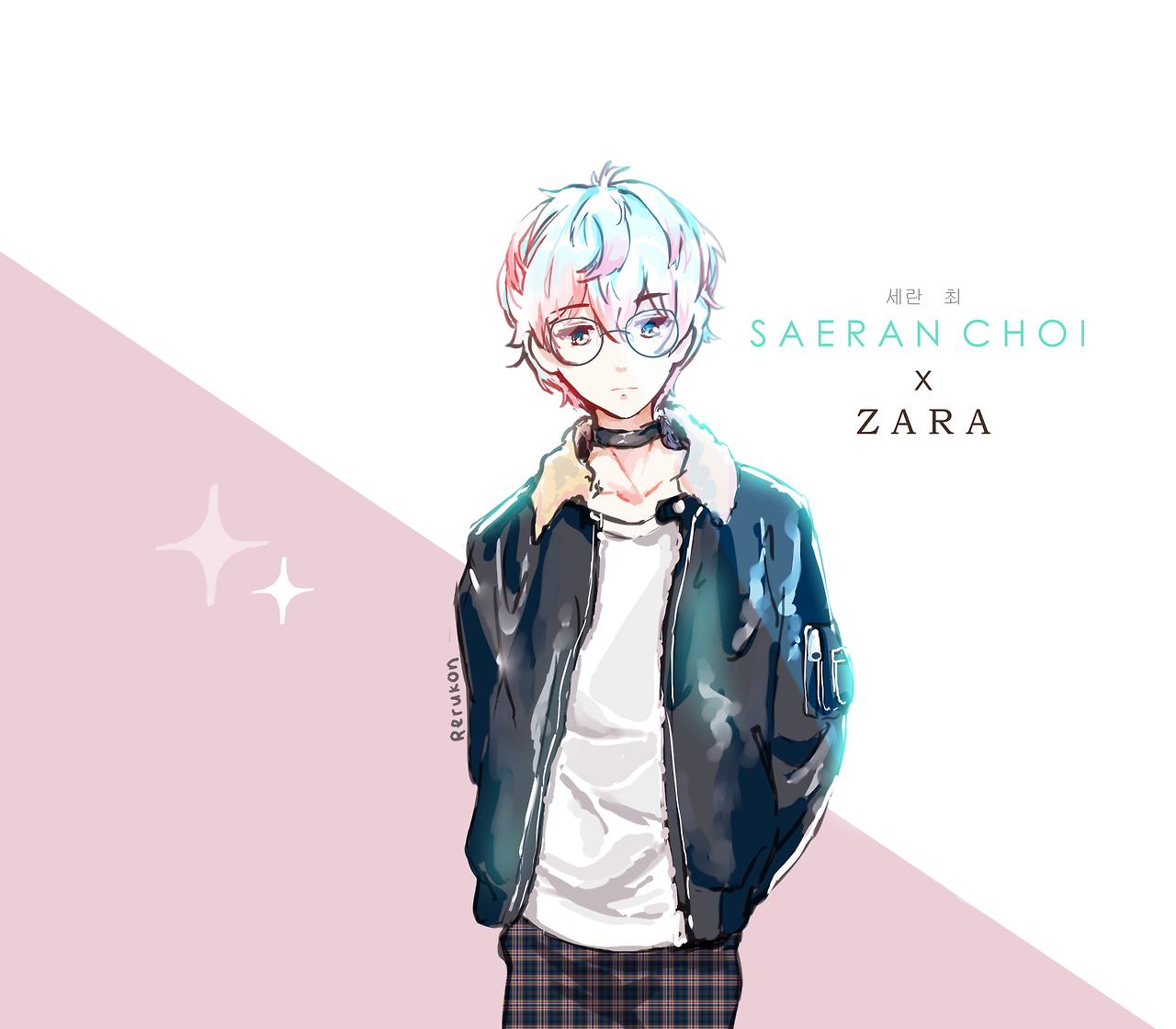 れるこん — kawaii edgy boy in casual clothes and glasses he