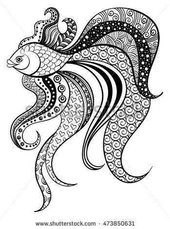 Related Image Mandala Coloring Pages Mandala Coloring Fish Coloring Page
