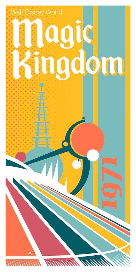 Walt Disney World Park Posters On Behance Retro Disney Vintage Disney Posters Disney World Magic Kingdom