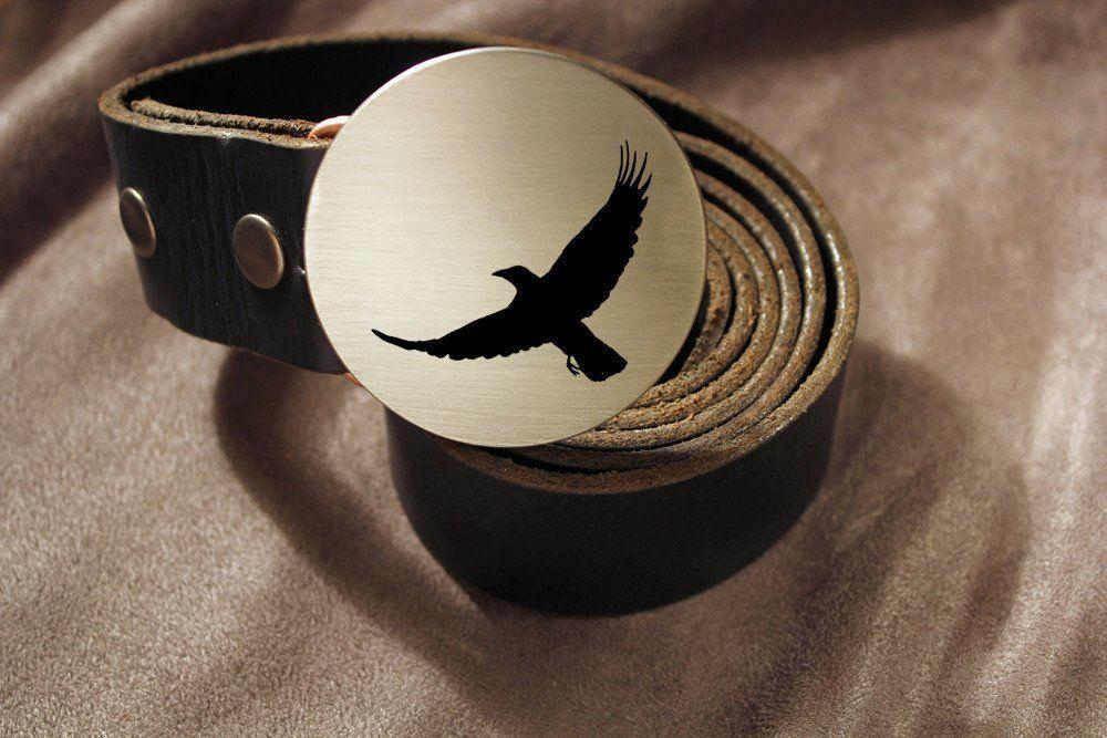 Crow Belt Buckle