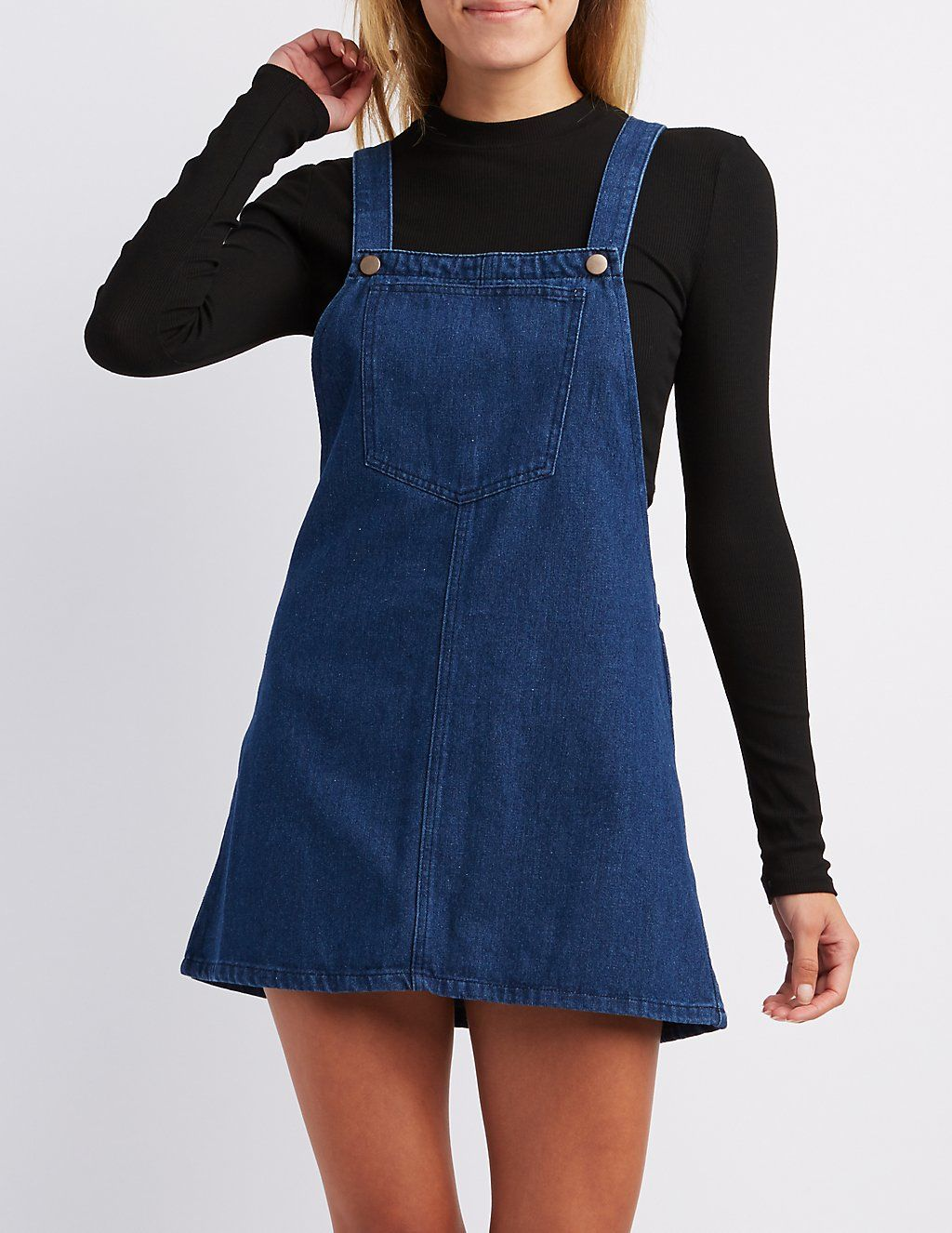 59d3753a341b Denim Shift Jumper  charlottelook Early Fall Outfits