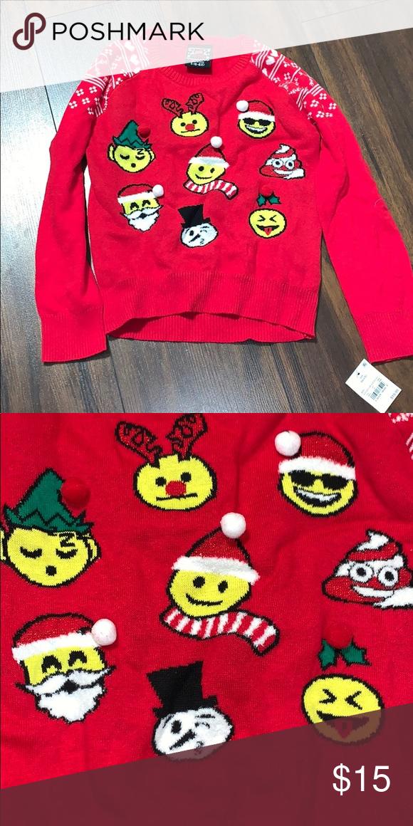 Emoji Christmas Sweater Size S 6 6x Nwt Christmas Sweaters Emoji Christmas Sweater Sizes