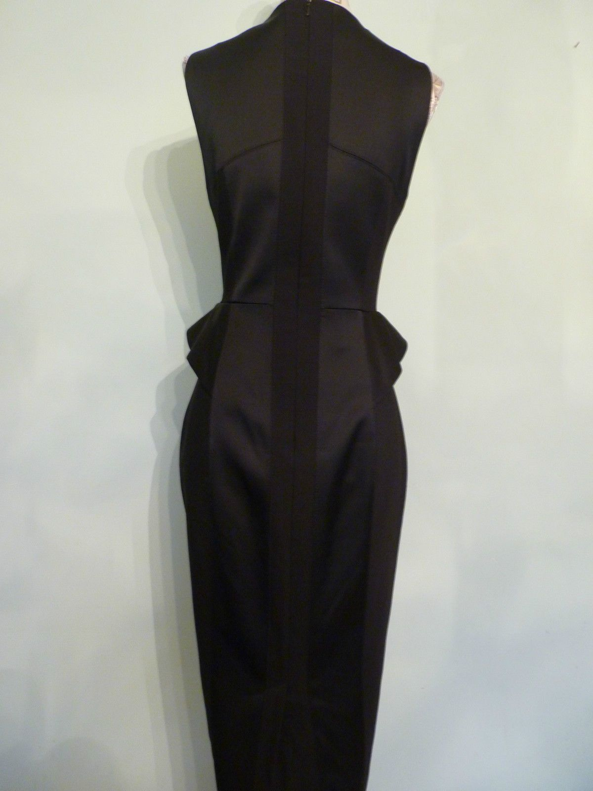 Stunning Authentic Black Wiggle Dress By Karen Millen Size 10 Ebay