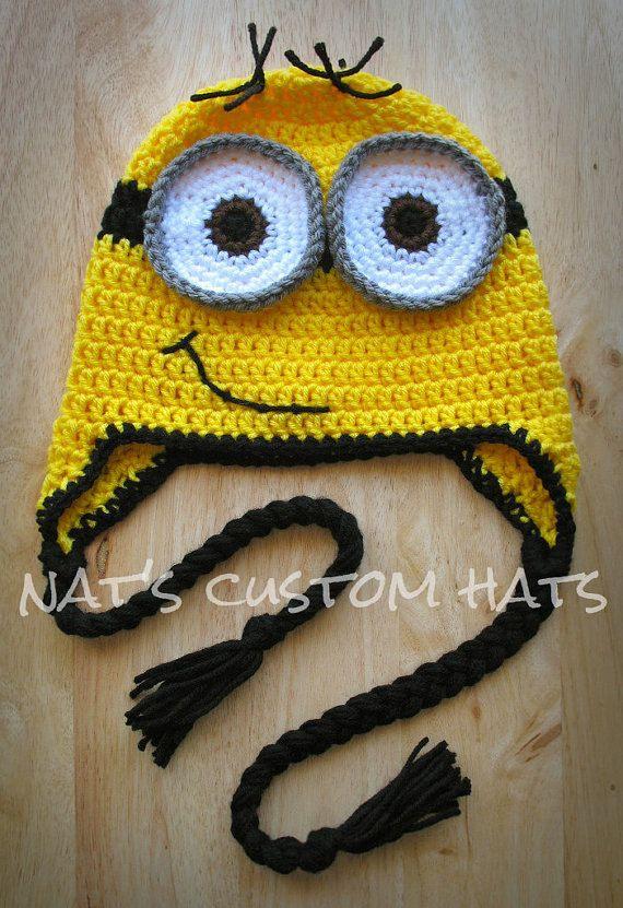 Crochet Pattern Minion Hat Pdf File Instant Download All Sizes
