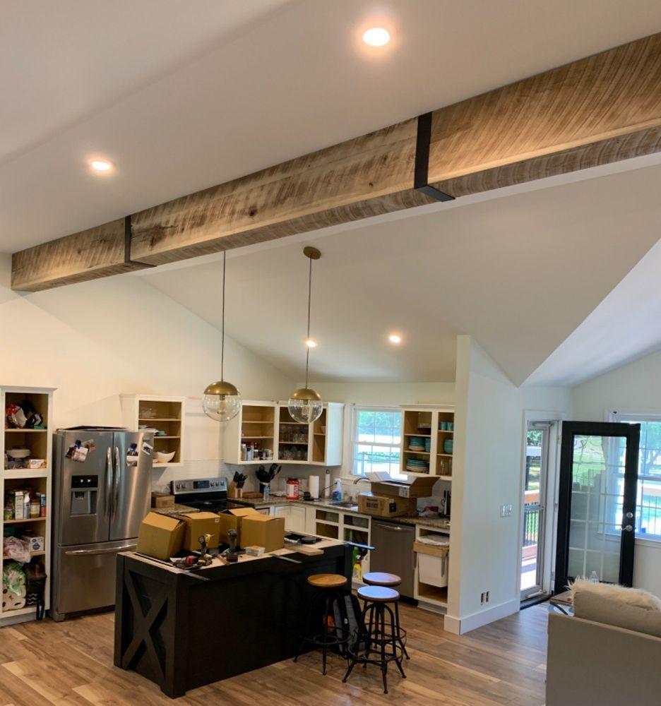 Diy faux wooden beams faux wooden beams faux ceiling