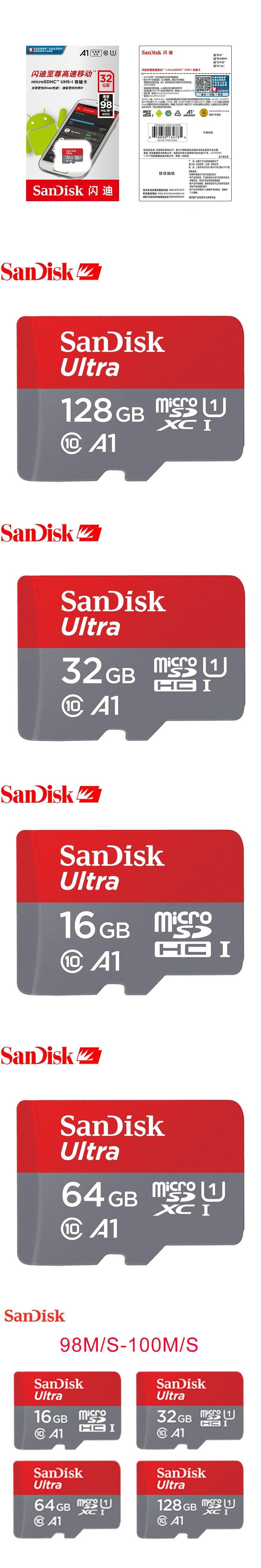 Sandisk Wholesale Micro Sd 128gb 64gb 32gb 16gb 80mb S Tf Usb Flash Sdhc Ultra Class 10 Uhs 1 Memory Card