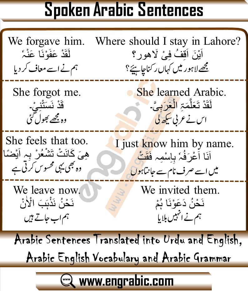 100 Arabic Phrases English Vocabulary Words Arabic Phrases English Learning Spoken