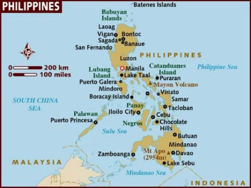 Philippines Map and Philippines Satellite Images