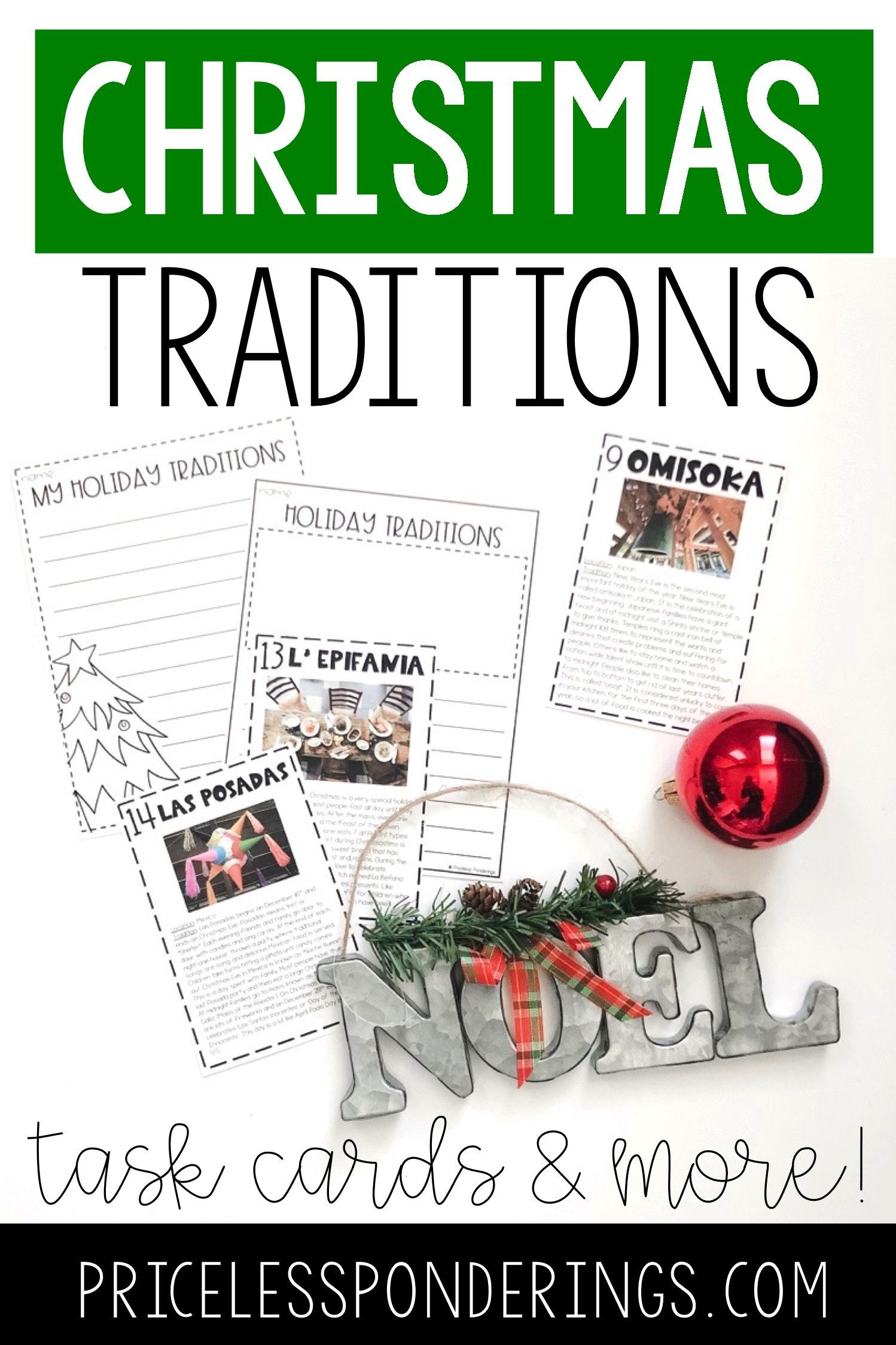 Holiday Traditions From Around The World Task Cards