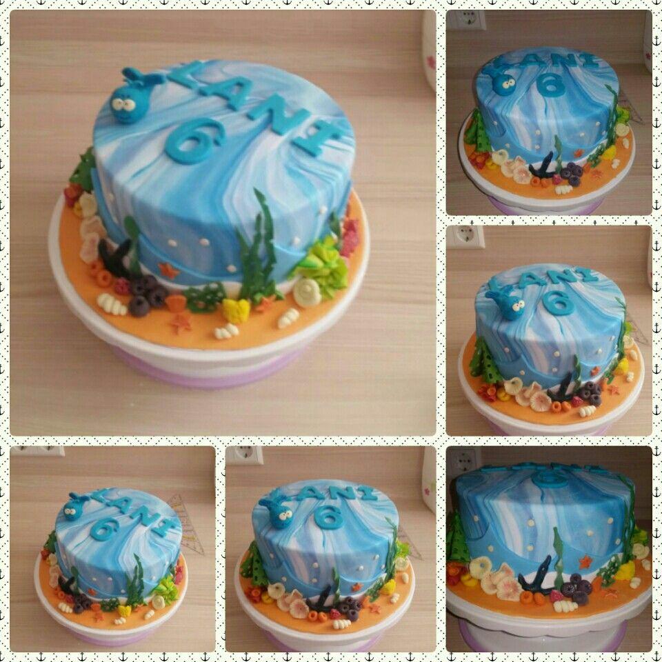 Kindergeburtstag Birthday Cake Kuchen Meer Wasser Motivtorte Kindergeburtstage Motivtorte Kindergeburtstag