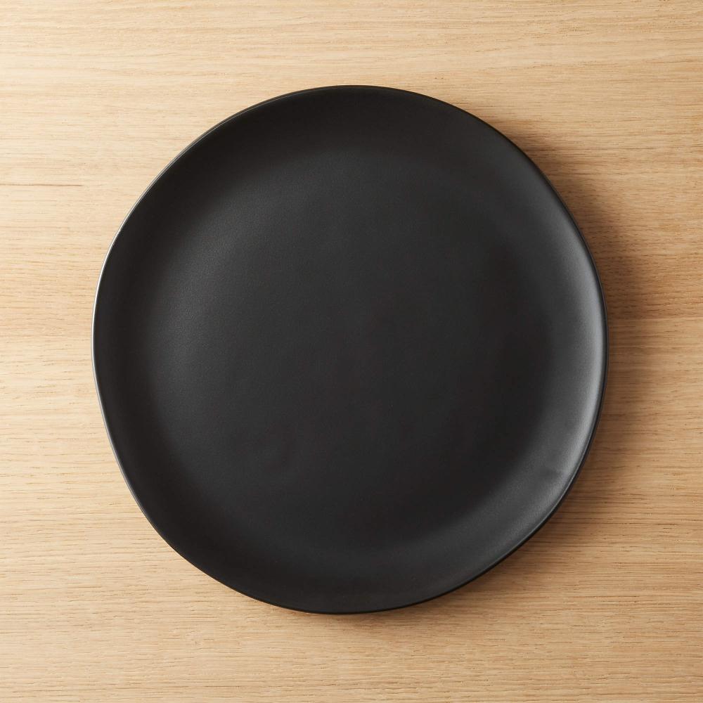 Crisp Matte Black Dinner Plate Reviews Cb2 In 2021 White Dinner Plates Unique Dinner Dinner Plates
