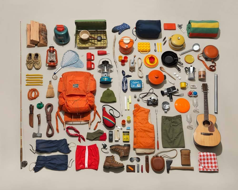 Photo of Image of Vintage Camping Gear Collection