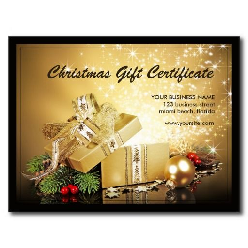Christmas And Holiday Gift Certificates Template – Santa Gift Certificate Template