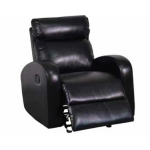 Global Furniture - Modern Glider Recliner In Black - U8129-G/R(M)