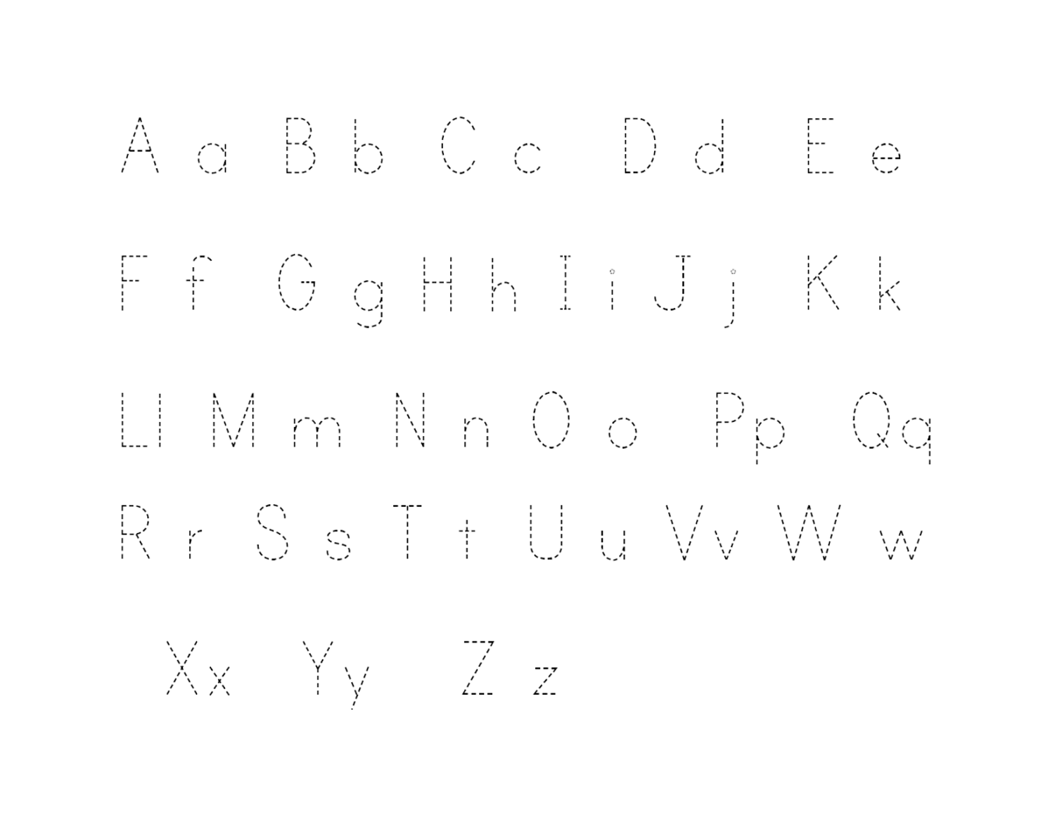 Free Traceable Alphabet Letter