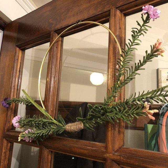 Photo of Front door wreath, modern farmhouse, green wreath, green wreath, mixed eucalyptus wreath, farmhouse wreath for front door, veranda wreath