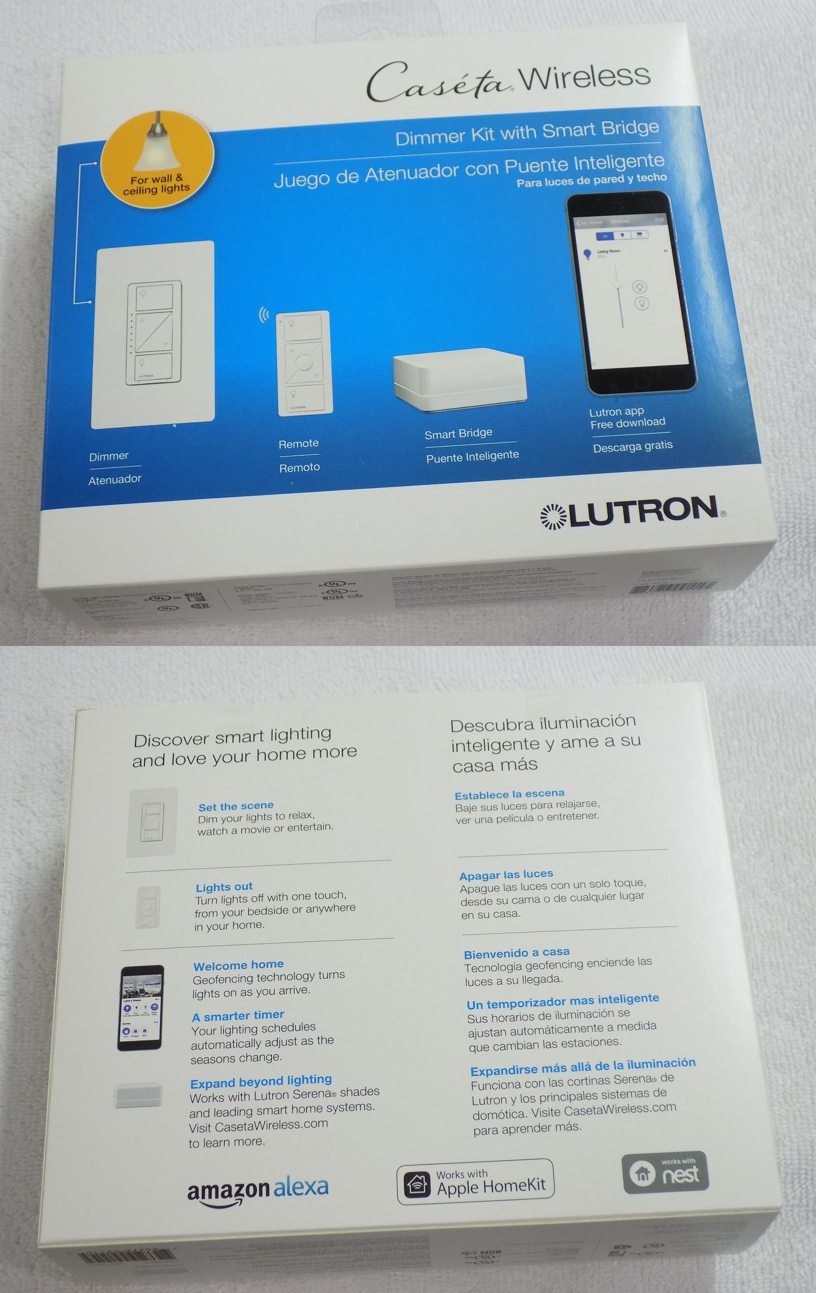 Lutron Mrf2 3ldh Wh Maestro Wireless 300 Watt Lamp Dimmer White Xmas