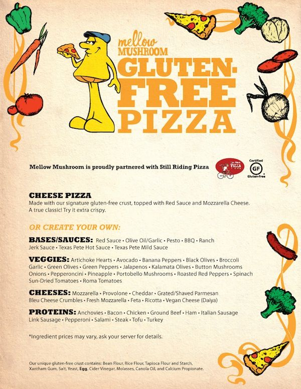image regarding Mellow Mushroom Printable Coupons named Pin upon Gluten Totally free