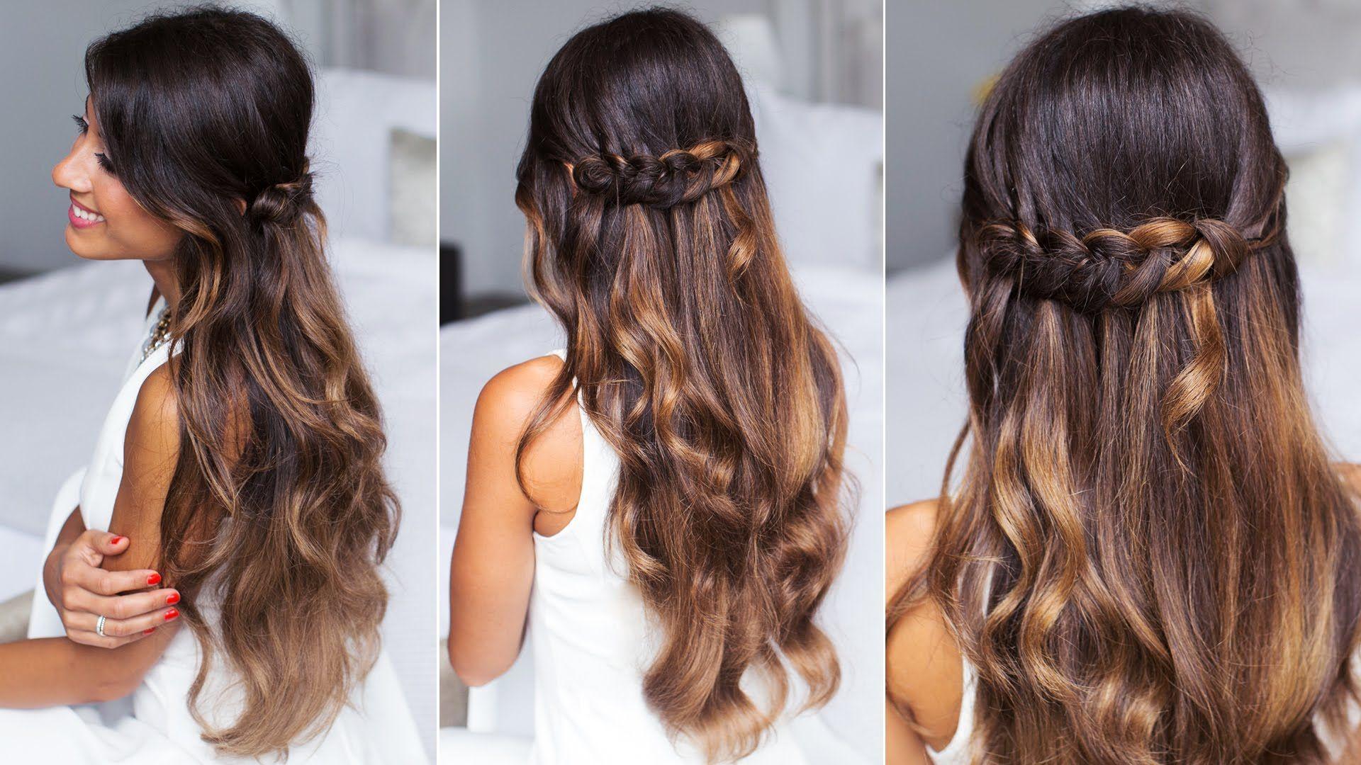 Cute And Easy Hairstyles Cute & Easy Loop Waterfall Braidluxyhair Youtube Channel  Hair