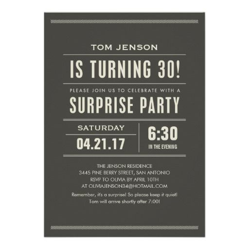 Are You Looking For Surprise 30th Birthday Invitations Online After Search A Lot Where To BuyDeals